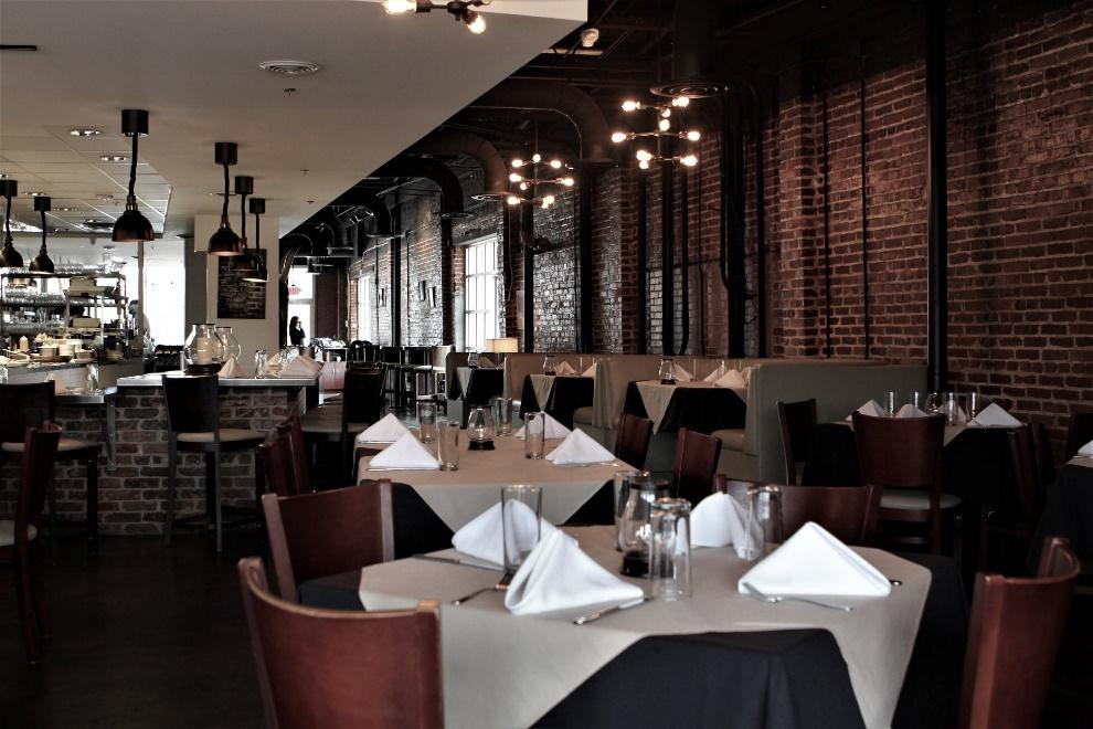 Seating in Cotton Calf Kitchen - the subject of our restaurant review