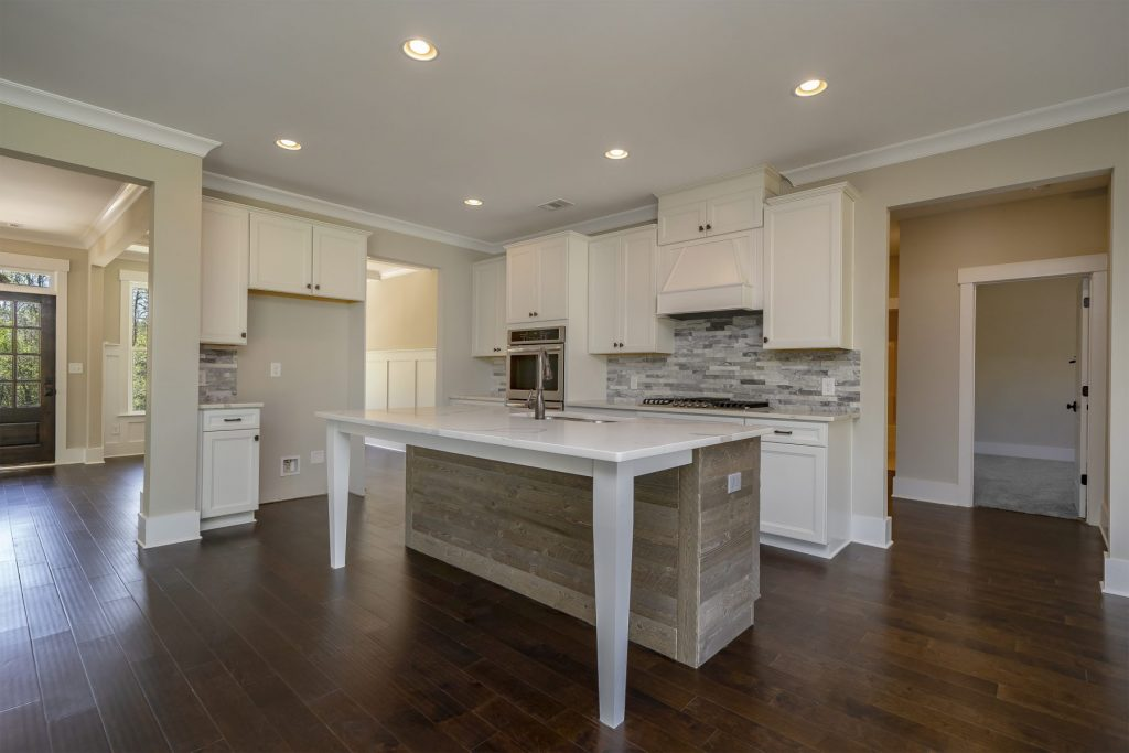 A kitchen in a ranch style home in traditions