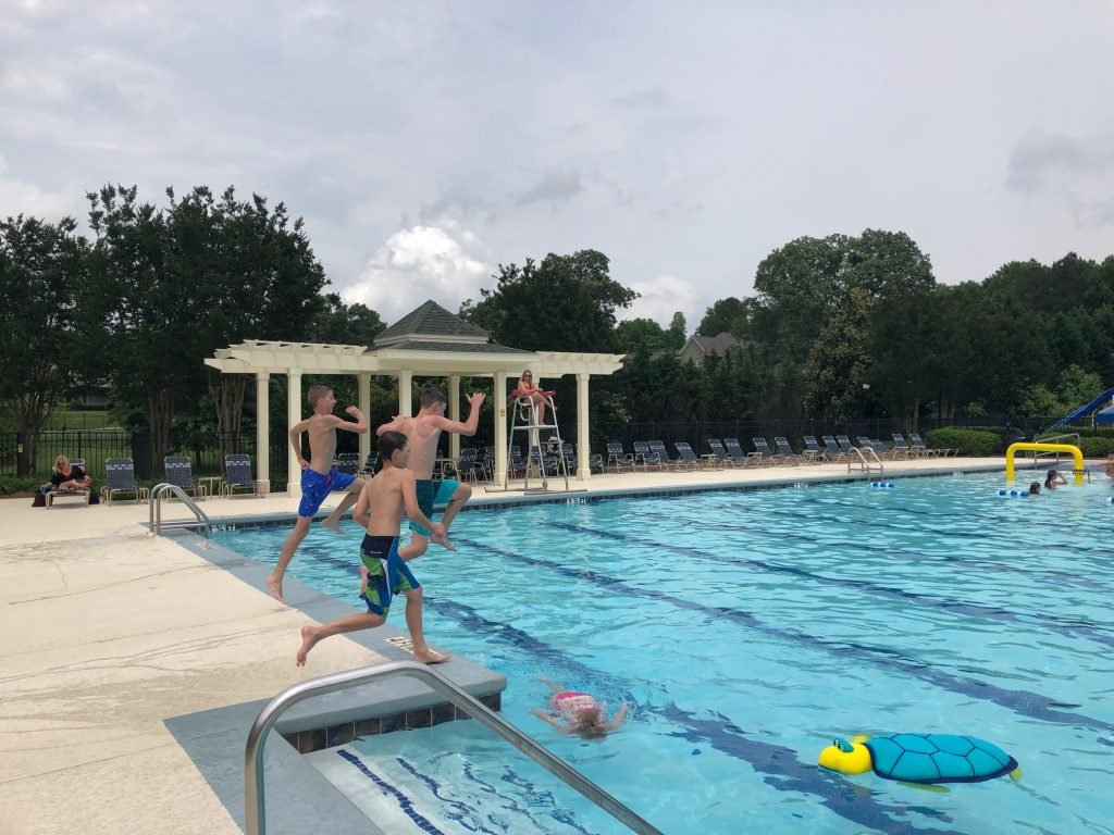 Kids Playing in the Jr. Olympic Pool at Traditions of Braselton