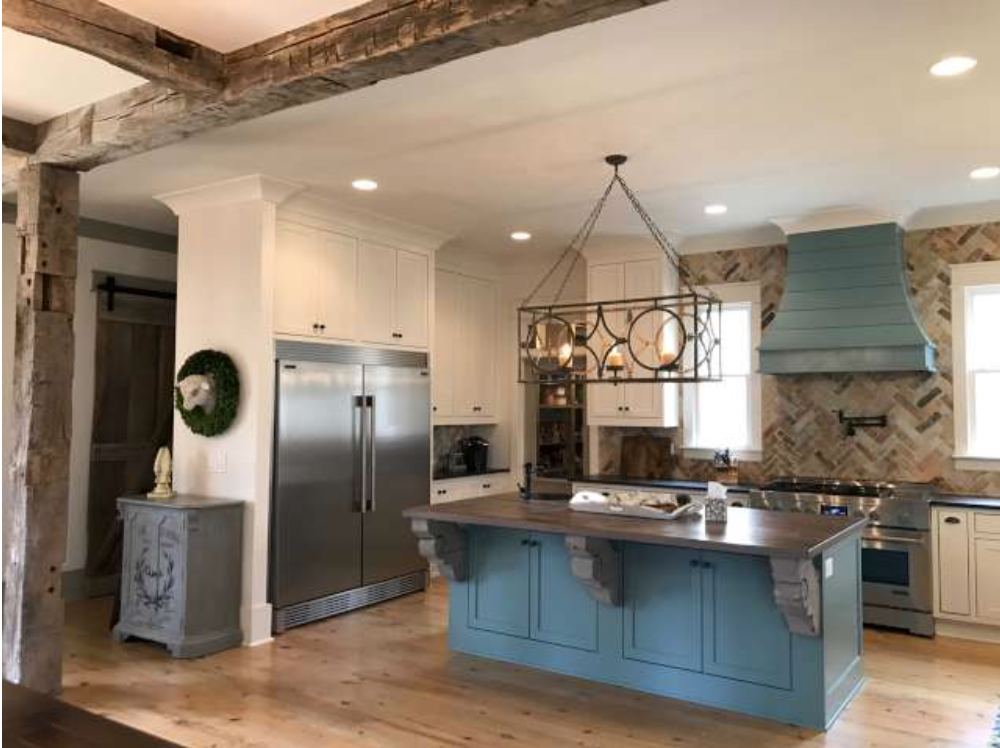 Currahee Homes interior with vintage style