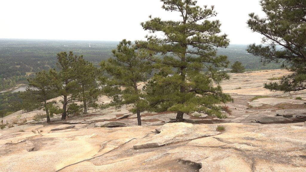 View from the top of Stone Mountain - a weekend destination near Braselton