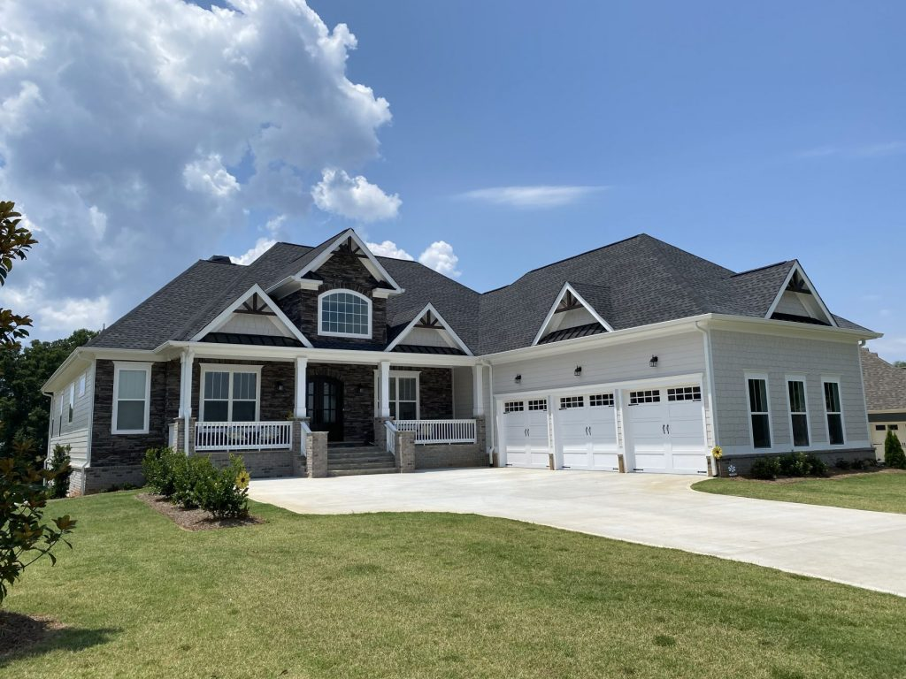 a custom home in Traditions of Braselton